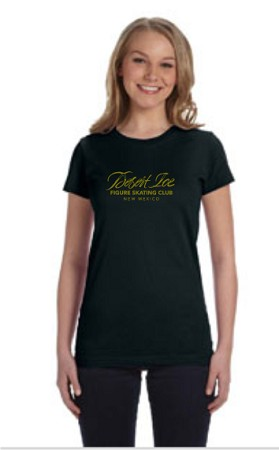 Fine Jersey T-shirt with gold foil DIFSC Logo and Rhinestone skater